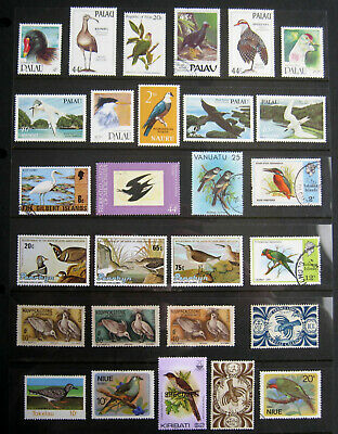 PACIFIC ISLANDS Birds. Large selection of stamps. Mint NH + used