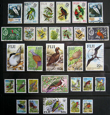 FIJI Birds. Large selection of stamps. Used