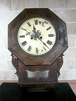 Antique Large Wall Clock (For Refurb. Or Spares)