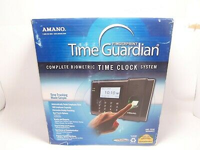 NEW Amano Time Guardian FPT-40 Biometric Fingerprint System
