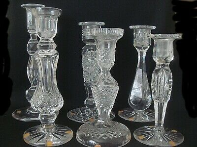 Collection of American Cut Glass Candlesticks - 6 - Estate Purchases