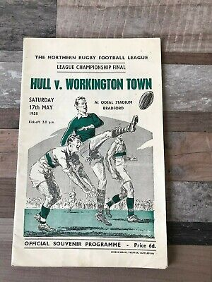 Hull Fc V Workington Town Rugby League Championship Cup Final Programme 1958