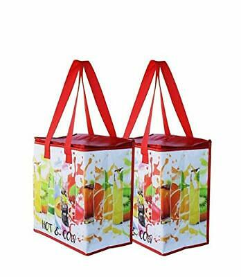 Earthwise Insulated Reusable Grocery Bag Shopping Tote with Zipper Top Lid Du...