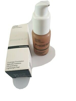 Phoera soft matte full coverage liquid foundation #107 Honey