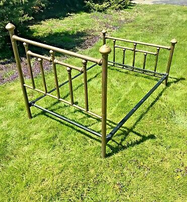 Antique Brass Bed (full size) good condition - approx. 110 years old