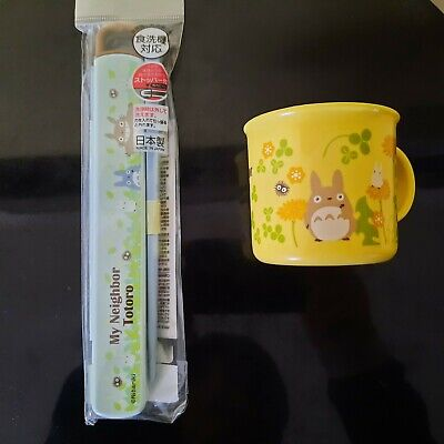 My Neighbor Totoro Yellow Cup and Chopsticks set Lootcrate