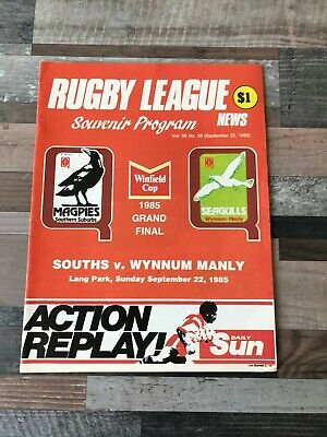 Souths V Wynnum Manly The Winfield Cup Grand Final Programme 1985