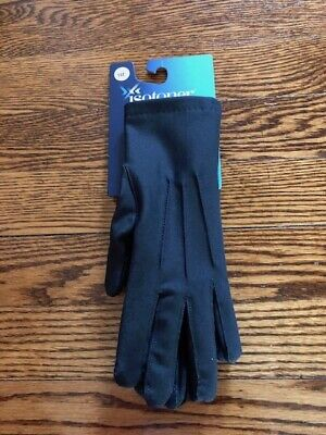 ISOTONER WOMEN CHARCOAL BLACK Cold Weather Stretch Fleece Lining GLOVES 1 SIZE