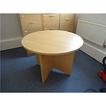 1000mm Beech Round Office Table