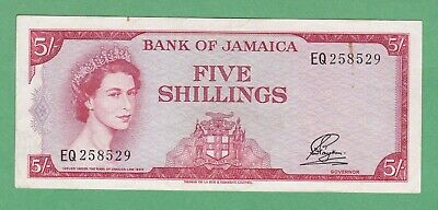 Jamaica 5 Shillings Notes  P-49   VERY FINE+