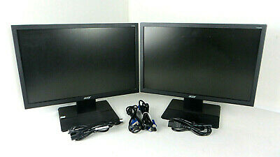 """Lot of 2 - Acer V196WL 19"""" Widescreen LED LCD Monitors"""