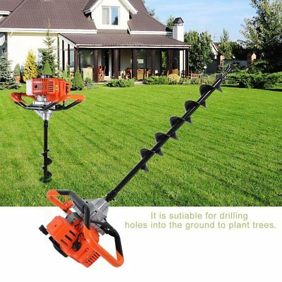"""52CC Hole Powered Engine Gas Post Auger Earth Drill Digger Bits 5"""" 6"""" 8""""10""""12"""" T"""