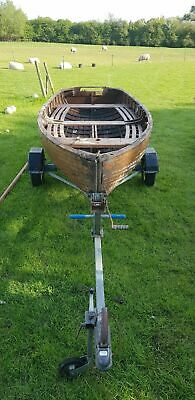 12.5 Long Wooden Sailing Boat and Trailer