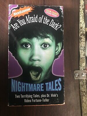 Are You Afraid Of The Dark Nickelodeon VHS Tape Nightmare Tales 1994