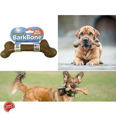 Indestructible Large Dog Toys Extra For Aggressive Chewers Bones Tough Bacon New