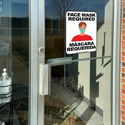 "10"" x 14"" Sign - Face Mask Required - Bilingual"