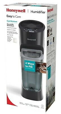 Honeywell Top Fill Tower Humidifier with Humidistat Black
