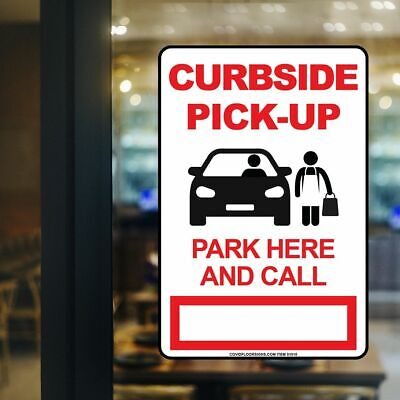 "12"" x 18"" Sign - Curbside Pickup Only"