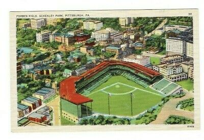 Pittsburgh PA Forbes Field Schenley Park Postcard Pittsburgh Pirates Vintage