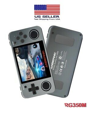 RG350M Upgraded RG350 Video Game Handheld Console + 2500 Games + 32GB SD