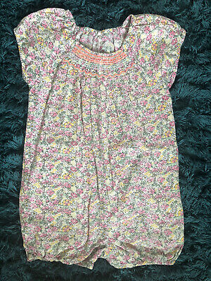 Next Girls Summer Floral Elasticated One Piece Playsuit Outfit Age 2-3 Years