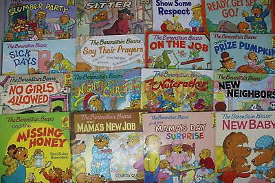 Lot of 10 The Berenstain Bears Books Children Kids Picture Random Free Shipping
