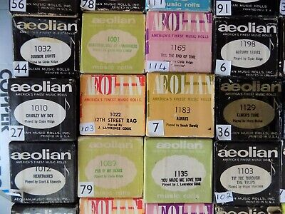 Pianola Rolls 88 note Choose 4 rolls from the photo Lot B