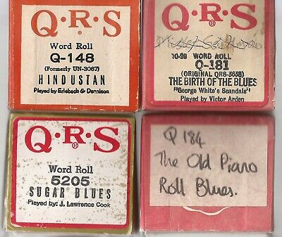 Pianola Rolls QRS x4 The Blues Rolls + 1 other