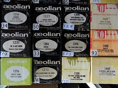 Pianola Rolls 88 note Choose 4 rolls from the photo Lot C