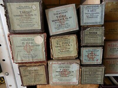 Pianola Piano Rolls 88 note by Tschaikowsky Nutcracker carton of 10 Classical