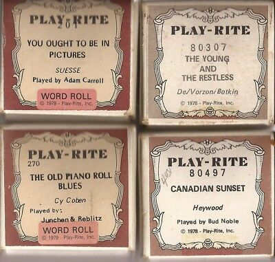 Pianola Rolls Playrite USA. Old Piano Roll Blues + 3 more