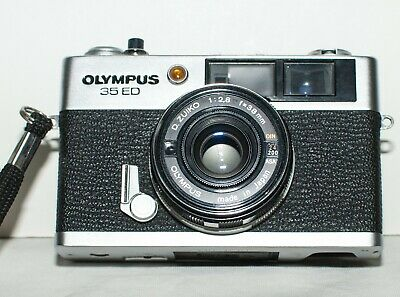 Olympus 35 Ed Camera 38Mm F2.8 Zuiko Lens.with Lens Cap, Hood,  Filter  And Case