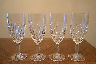 Set of 4 MARQUIS by WATERFORD Blown Crystal BROOKSIDE Iced Beverage Glasses 8.5""