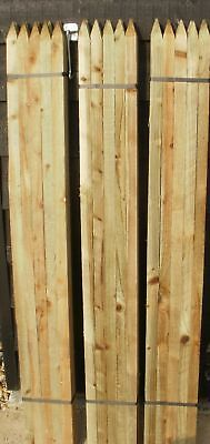 10 x 1.8m 6ft Square & Pointed Wooden Pressure Treated Tree Stakes posts wood