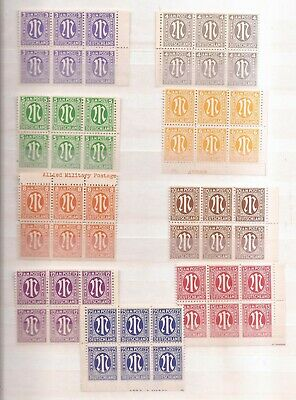 Usa  Occupation Of Germany  -  Mnh  -  Lot Of Blocks Of 6 Mnh Stamps