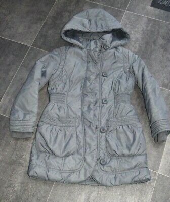 Fab Girls M&S Grey Hooded Coat Aged 5-6 Years - In Good Condition