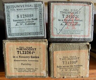 4 x Pianola Piano Rolls 88 note by Albert Ketelbey