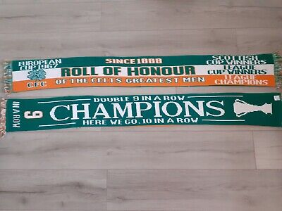 Celtic 9 In a Row Champions/roll Of Honour Double Sided Scarf!! 🍀🍀🍀🍀