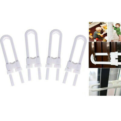 4~12 Sliding Child Safety Cabinet Lock U Shaped Baby Proof Cupboard Kitchen Lock