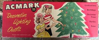 Retro Vintage Christmas Light Set Box In Great Condition-For Display Only