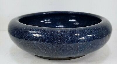 Antique Chinese Shiwan Yixing Zisha Blue Flambe Glazed Narcissus Bowl