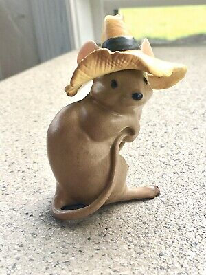 Hagen Renaker Timothy Mouse With Hat
