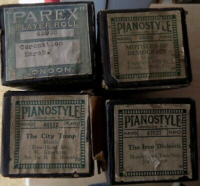 4 x Pianola Rolls Pianostyle and Parex All tunes are Lively Marches