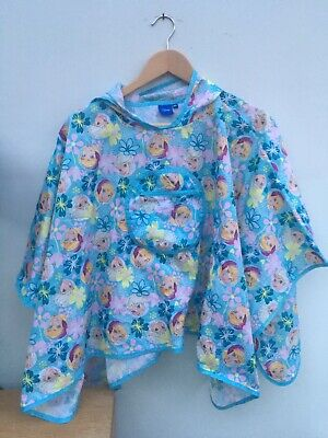 Girls Disney Frozen Elsa Ana - Shower Pull over / pack a mac/ poncho 5 - 8 years