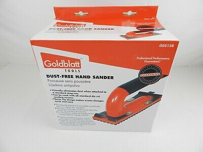 Goldblatt Dust free Hand Sander G05138 New in box
