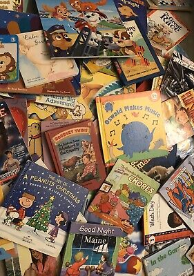 Lot of 20 Childrens BABY TODDLER DAYCARE Kids BOOKS *RANDOM MIX*