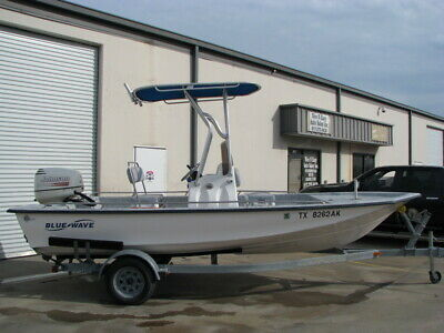 No Reserve!07 Blue Wave 190 Deluxe Cc 19 Ft Boat With 90Hp Johnson Motor! Nice!