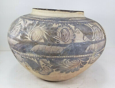 Antique Native American Indian Mexican Pre-Columbian Pottery Bowl Aztec Maya