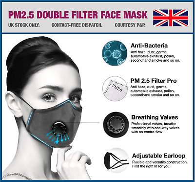 1 YEAR PROTECTION - 12x PM2.5 Face Masks + FREE 72 Filters!