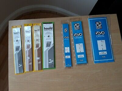 Hawid & Davo Stamp Mount Strips, Part-Packs 1or 2 strips used from packs